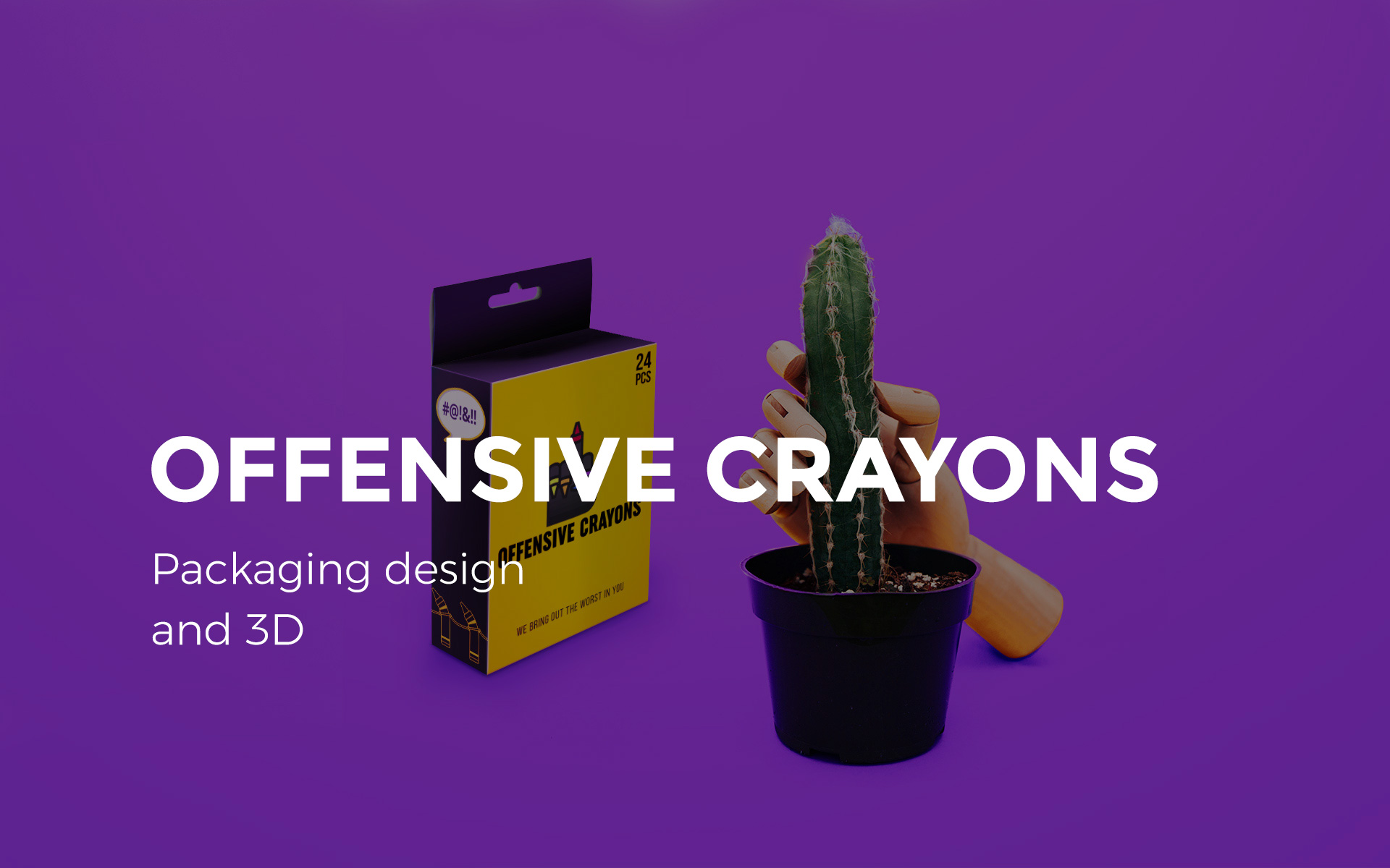 Offensive Crayons packaging design