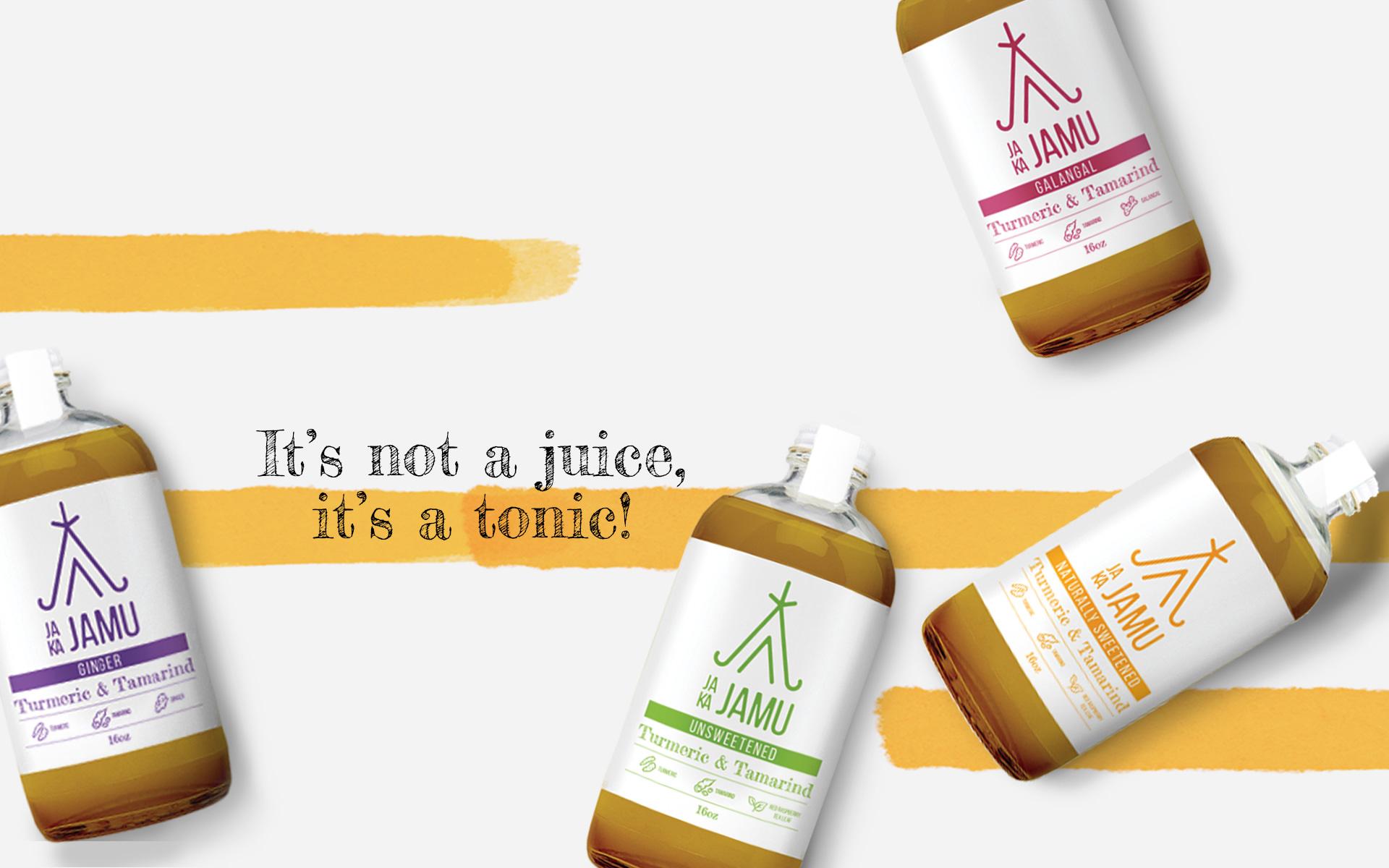 svad studio jaka jamu packaging design for a tonic drink