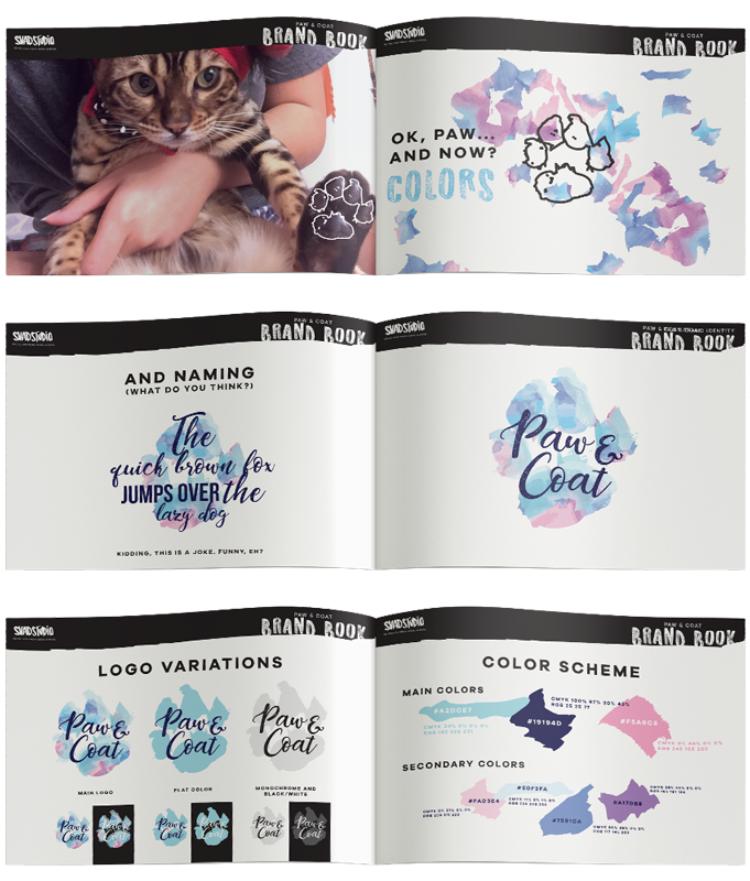 Paw&Coat brand identity and packaging brandbook